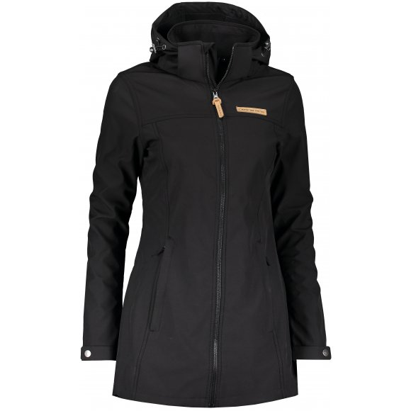Dámský softshellový kabát ALPINE PRO BENJA LCTP091 ČERNÁ