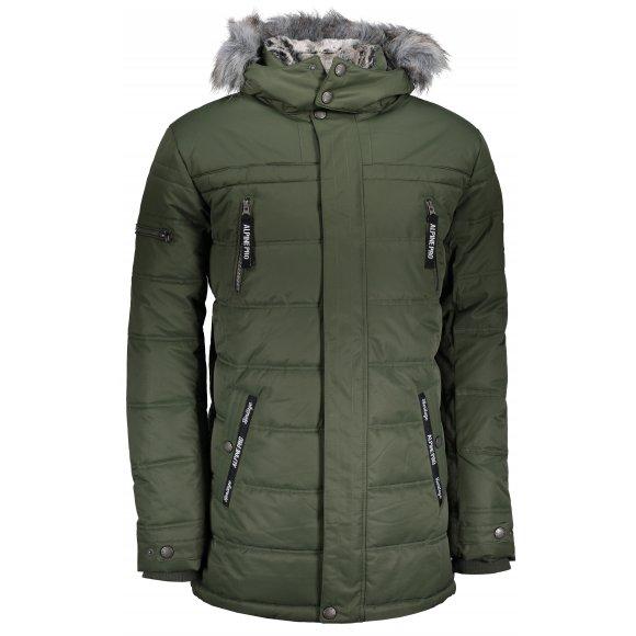 Pánská zimní bunda ALPINE PRO ICYB 5 MJCP361 TMAVĚ ZELENÁ