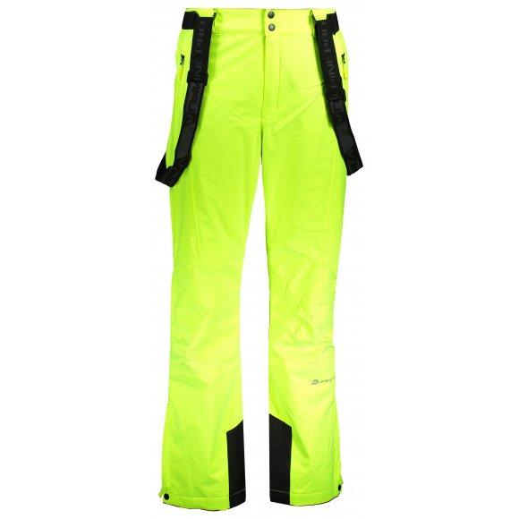 Pánské lyžařské kalhoty ALPINE PRO SANGO 7 MPAP394 SVĚTLE ZELENÁ