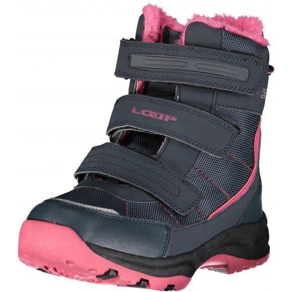 Dětské zimní boty LOAP SNEEKY KBJ1888 TMAVĚ MODRÁ