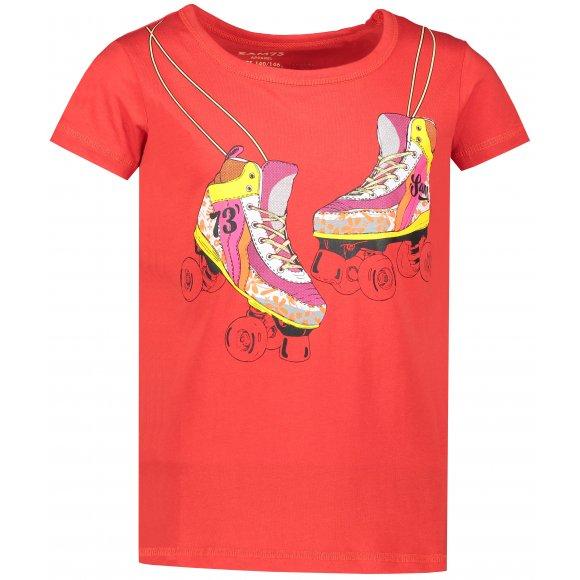 Dívčí triko s krátkým rukávem SAM 73 KTSP221 ČERVENÁ