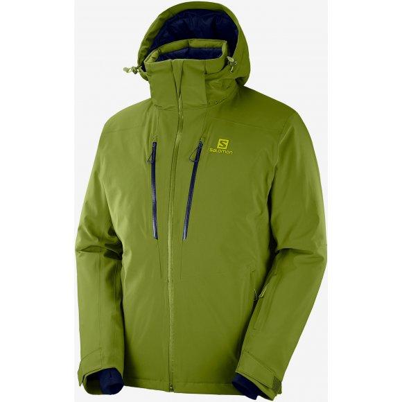 Pánská lyžařská bunda SALOMON ICEFROST JKT M LC1223000 AVOCADO