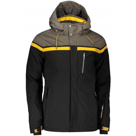 Pánská lyžařská bunda KILLTEC TIGOR 34147 ČERNÁ/TMAVÁ OLIVA