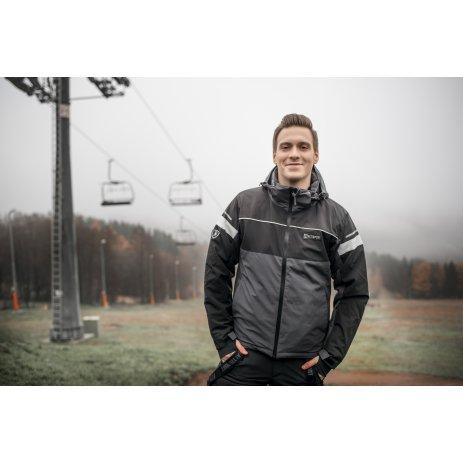 Pánská lyžařská bunda ALTISPORT DELONER TMAVĚ ŠEDÁ