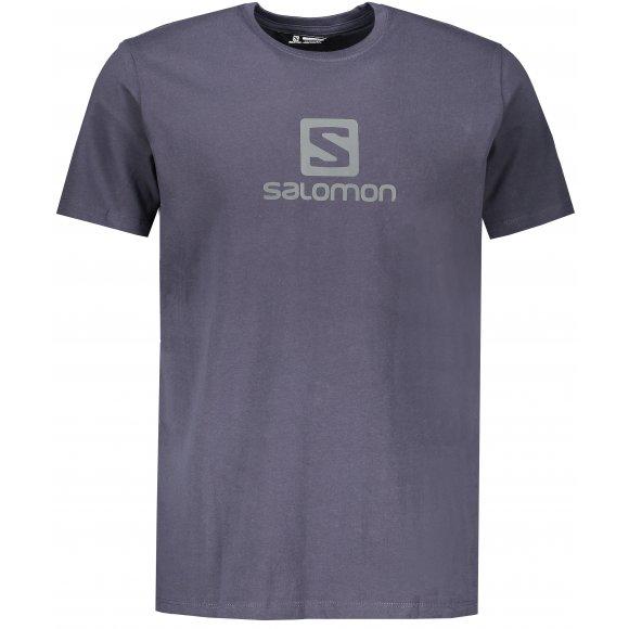 Pánské triko SALOMON COTON LOGO SS TEE M LC1152200 NIGHT SKY