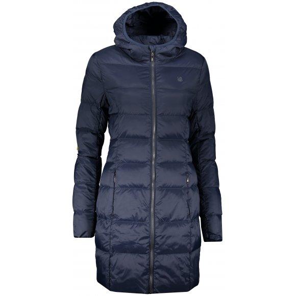 Dámský péřový kabát LOAP IPRADA CLW19112 TMAVĚ MODRÁ