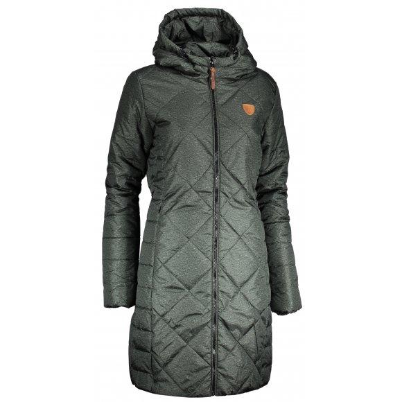 Dámský kabát SAM 73 WB 780 TMAVĚ ZELENÁ