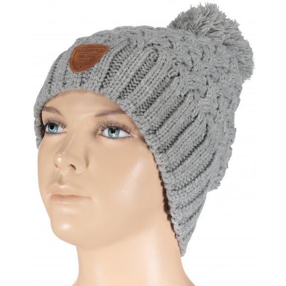 Dámská zimní čepice SAM 73 UC 137 SVĚTLE ŠEDÁ