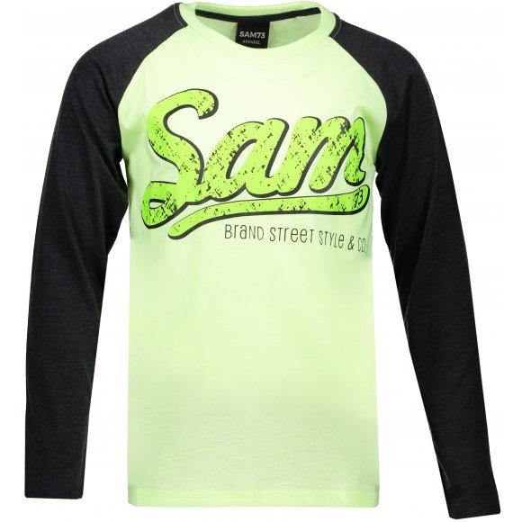 Chlapecké triko s dlouhým rukávem SAM 73 BT 531 ZELENÁ