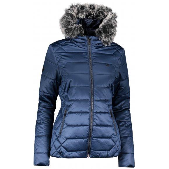 Dámská zimní bunda LOAP TASIA CLW19104 TMAVĚ MODRÁ