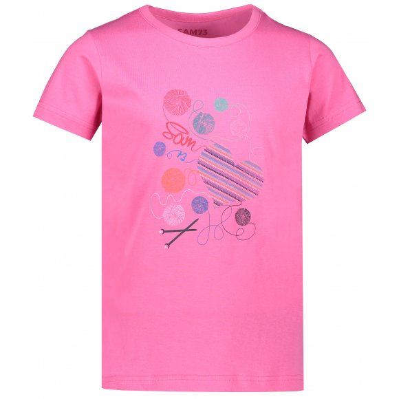 Dívčí triko s krátkým rukávem SAM 73 KTSP248 RŮŽOVÁ