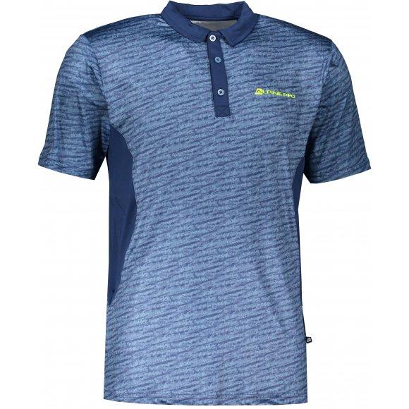 Pánské funkční triko s límečkem ALPINE PRO ISTAS 3 MTSR455 MODRÁ