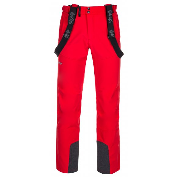 Pánské zimní softshellové kalhoty KILPI RHEA-M LM0034KI ČERVENÁ