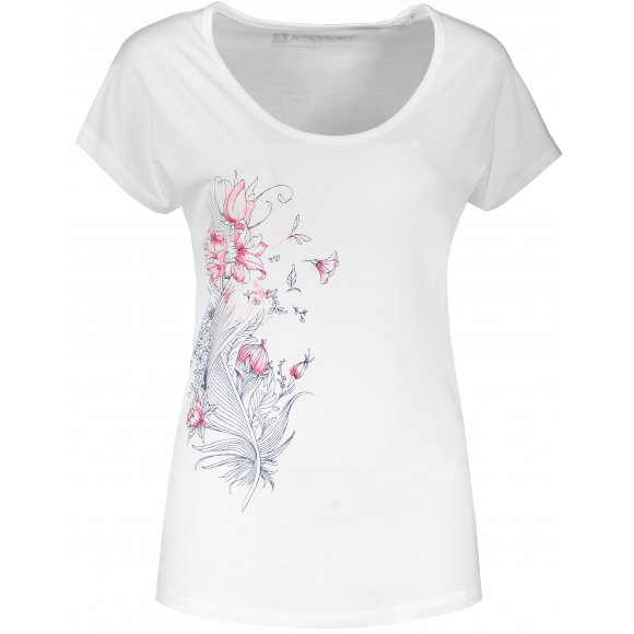Dámské triko s krátkým rukávem ALTISPORT NORMA LTSR654 BÍLÁ