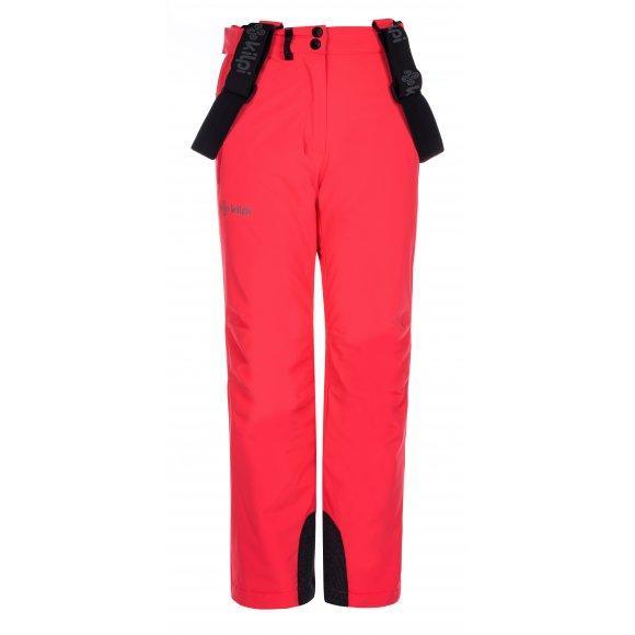 Dívčí lyžařské kalhoty KILPI EUROPA-JG LJ0006KI RŮŽOVÁ