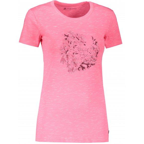 Dámské triko ALPINE PRO ROZENA 6 LTSR591 RŮŽOVÁ
