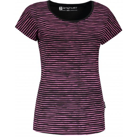 Dámské triko s krátkým rukávem ALTISPORT GOBNATA LTSR640 ČERNÁ