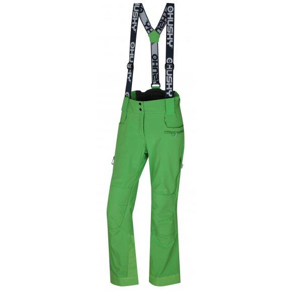 Dámské zimní softshellové kalhoty HUSKY GALTI L ZELENÁ