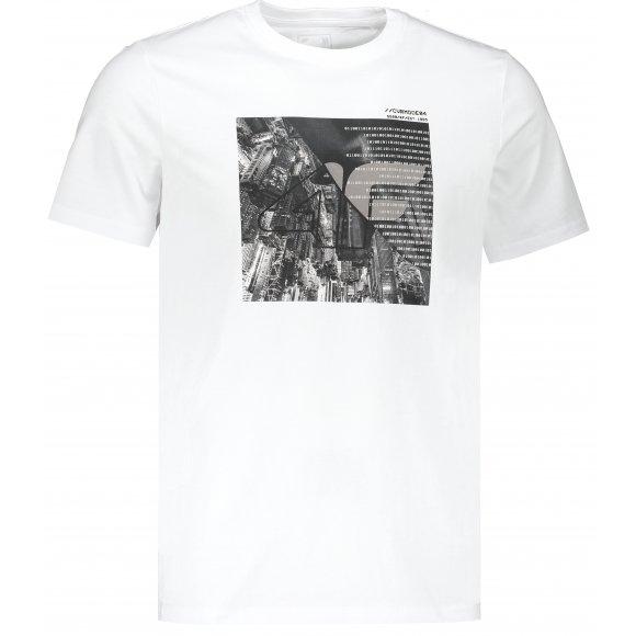 Pánské triko 4F D4L20-TSM205 WHITE