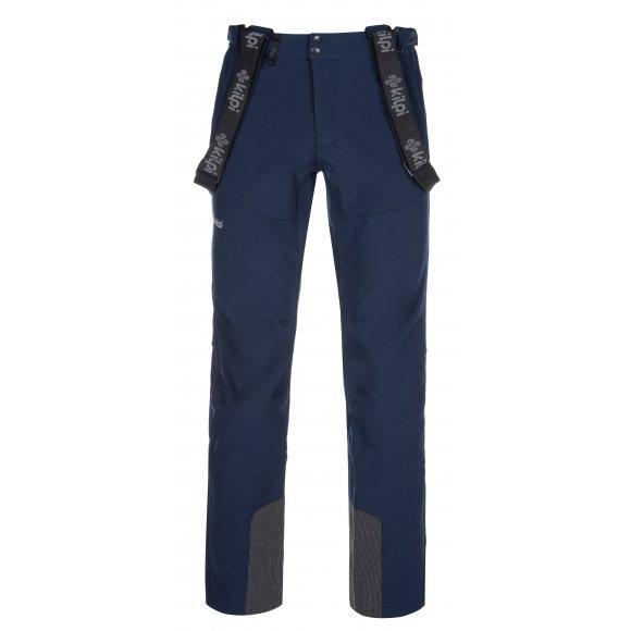 Pánské zimní softshellové kalhoty KILPI RHEA-M LM0034KI TMAVĚ MODRÁ