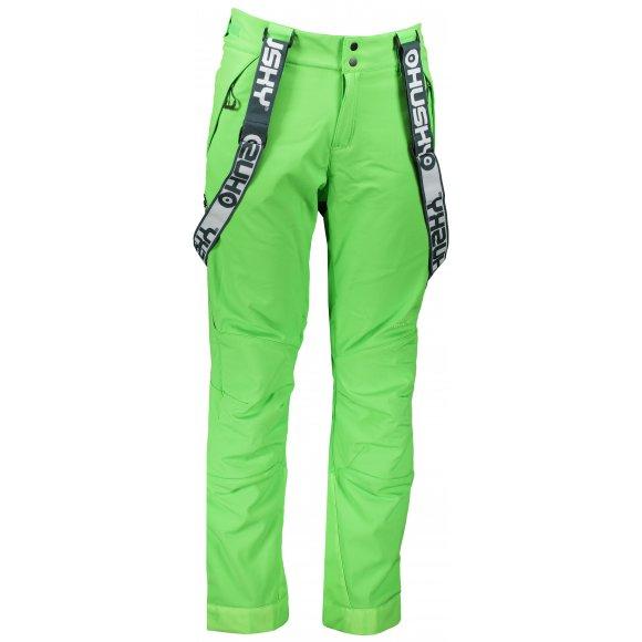 Pánské zimní softshellové kalhoty HUSKY GALTI M SVĚTLE ZELENÁ
