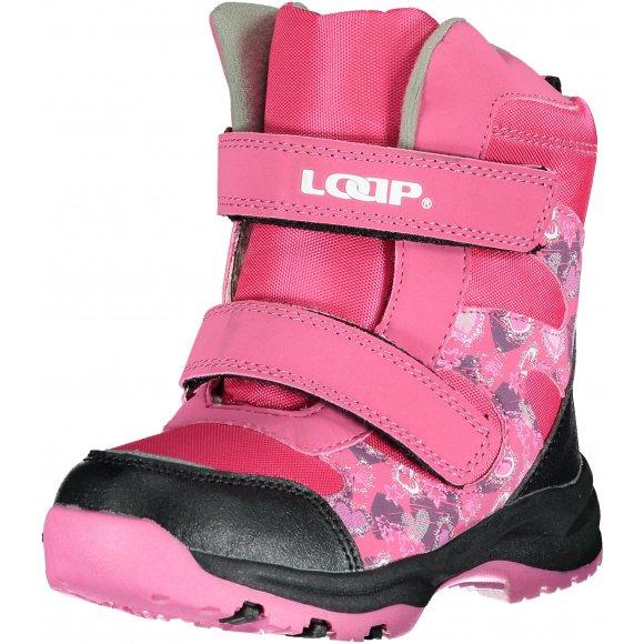 Dětské zimní boty LOAP CHOSEE KBK1644 RŮŽOVÁ
