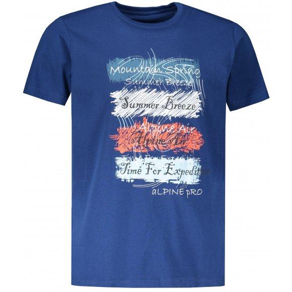 Pánské triko ALPINE PRO AMIT 7 MTSR475 TMAVĚ MODRÁ