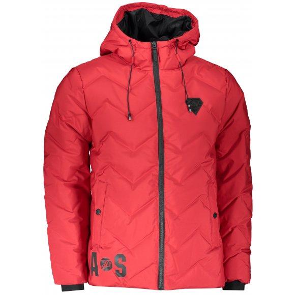 Pánská zimní bunda PEAK FW584341 TMAVĚ ČERVENÁ