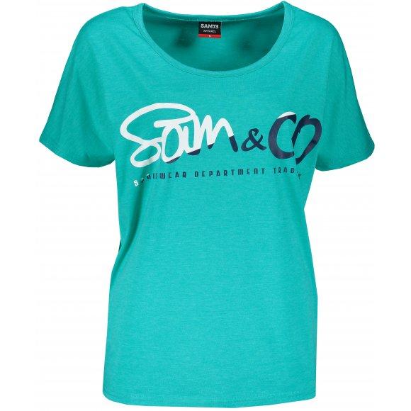 Dámské triko s krátkým rukávem SAM 73 WT 801 ZELENÁ NEON