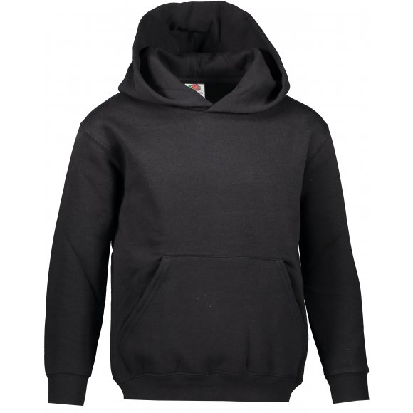 Dětská mikina FRUIT OF THE LOOM PREMIUM HOODED SWEAT BLACK