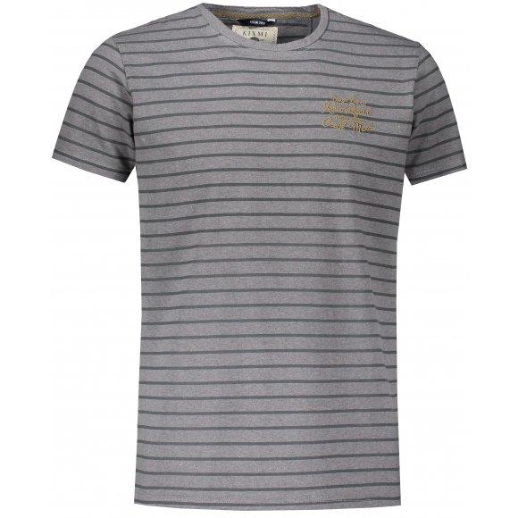 Pánské triko s krátkým rukávem KIXMI JERRY TMAVĚ ŠEDÝ MELÍR
