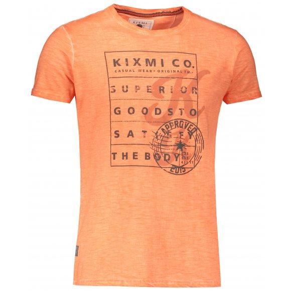 Pánské triko s krátkým rukávem KIXMI JEFFRY ORANŽOVÁ