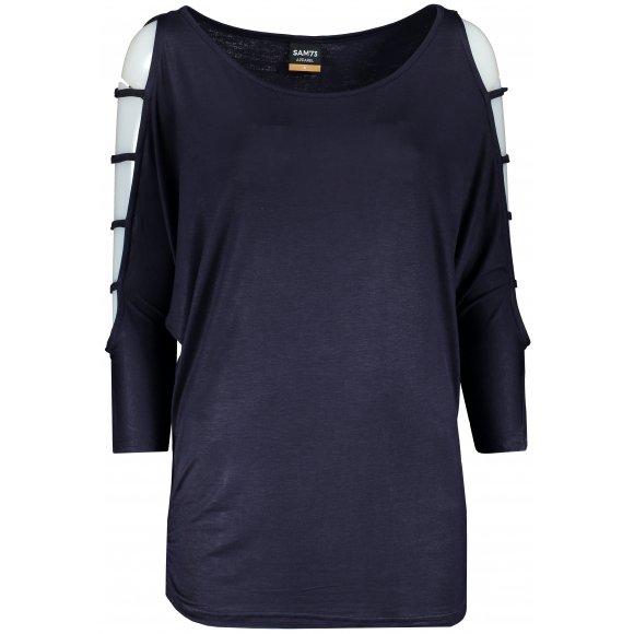 Dámské triko s 3/4 rukávem SAM 73 WT 804 TMAVĚ MODRÁ