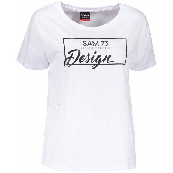 Dámské triko s krátkým rukávem SAM 73 WT 803 BÍLÁ