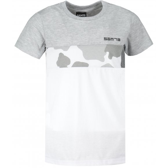 Chlapecké triko s krátkým rukávem SAM 73 BT 537 SVĚTLE ŠEDÁ