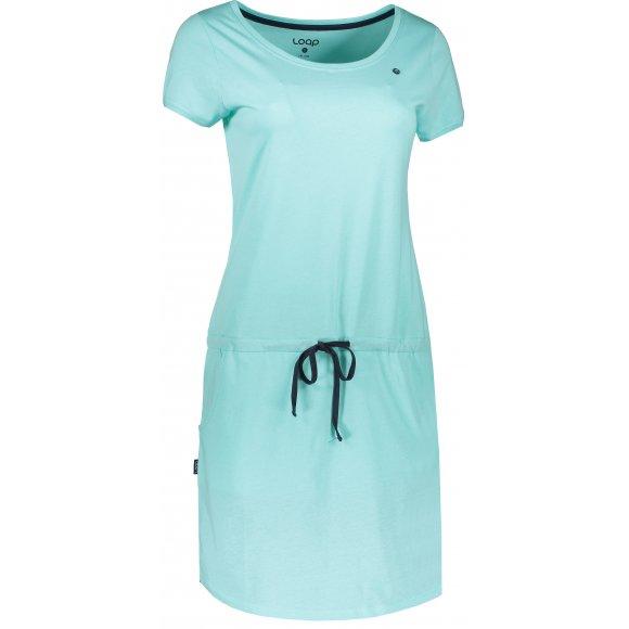 Dámské šaty LOAP BANNY CLW2035 SVĚTLE MODRÁ