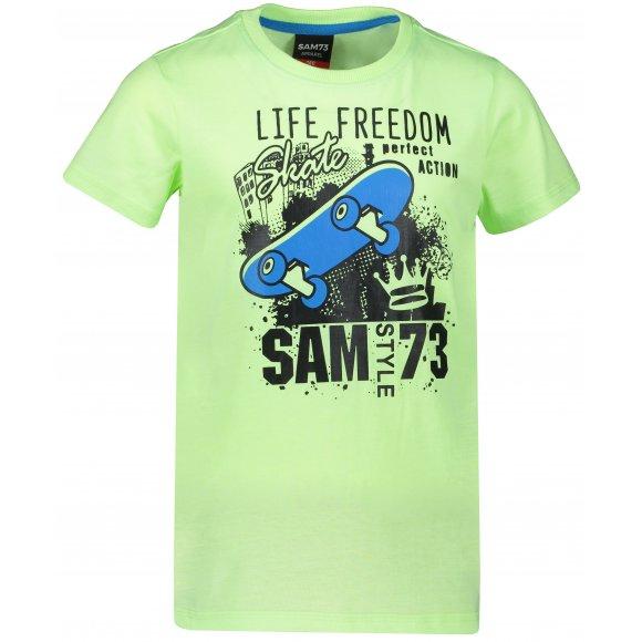 Chlapecké triko s krátkým rukávem SAM 73 BT 536 ŽLUTÁ NEON