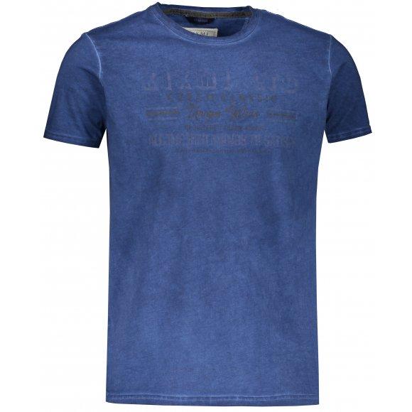Pánské triko s krátkým rukávem KIXMI JAMES TMAVĚ MODRÁ