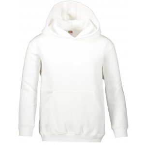 Dětská mikina FRUIT OF THE LOOM PREMIUM HOODED SWEAT WHITE