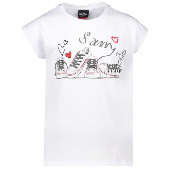 Dívčí triko s krátkým rukávem SAM 73 GT 541 BÍLÁ