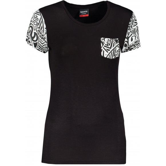 Dámské triko s krátkým rukávem SAM 73 WT 800 ČERNÁ