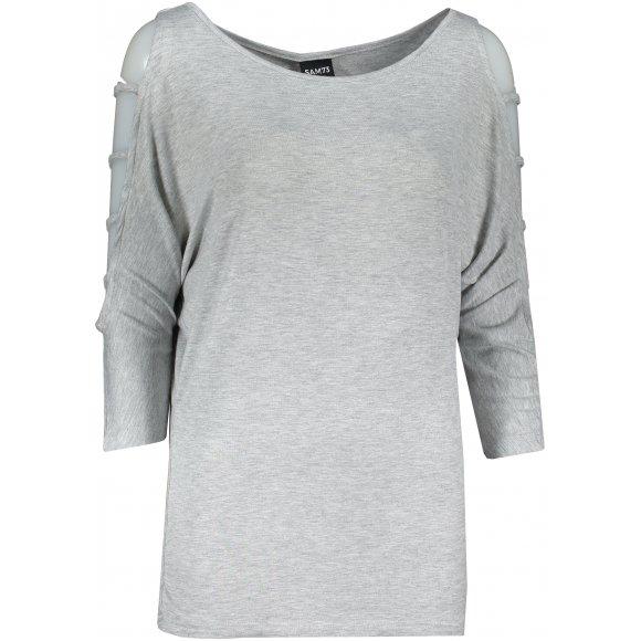 Dámské triko s 3/4 rukávem SAM 73 WT 804 SVĚTLE ŠEDÁ