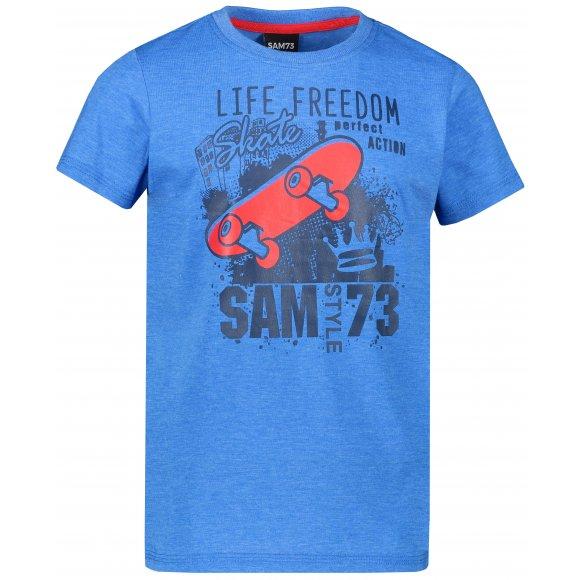 Chlapecké triko s krátkým rukávem SAM 73 BT 536 MODRÁ