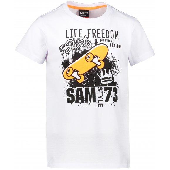 Chlapecké triko s krátkým rukávem SAM 73 BT 536 BÍLÁ