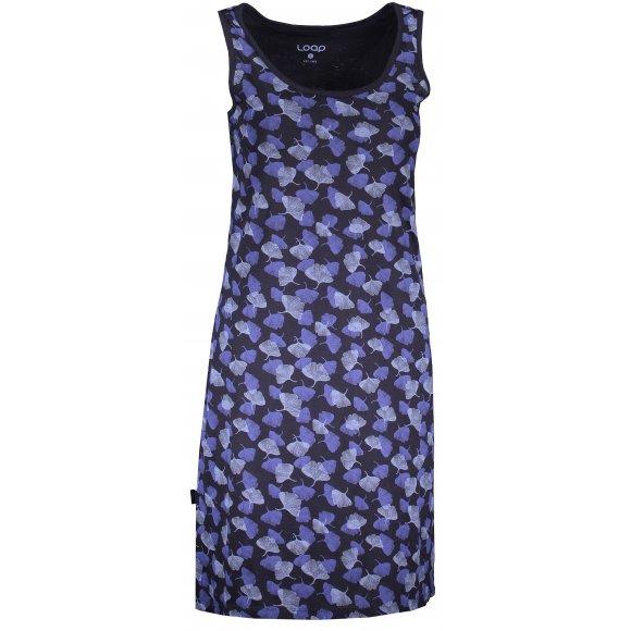 Dámské šaty LOAP ASNARA CLW2073 TMAVĚ MODRÁ