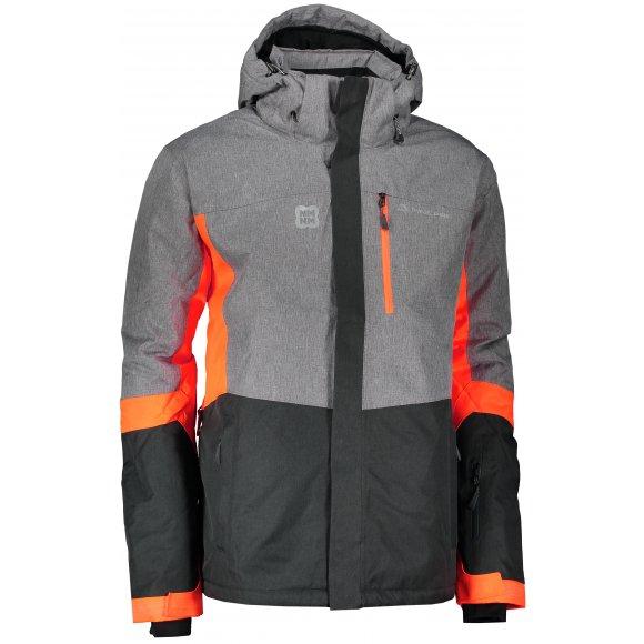 Pánská zimní bunda ALPINE PRO SARDAR 2 MJCM308 ŠEDÁ/ORANŽOVÁ