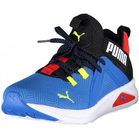 Pánské sportovní boty PUMA ENZO 2 GEO 19325002 PLACE BLUE/PUMA BLACK/YELLOW ALERT