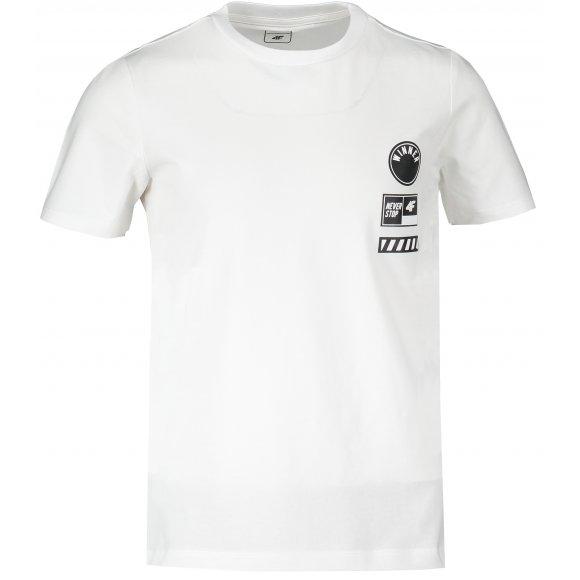 Chlapecké triko 4F J4L20-JTSM211 WHITE