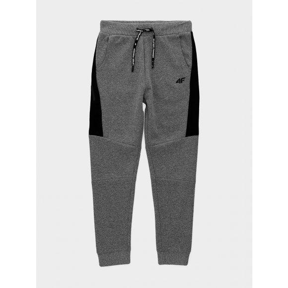 Chlapecké kalhoty 4F J4L20-JSPMD203A DARK GREY MELANGE