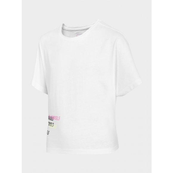 Dívčí triko 4F J4L20-JTSD210 WHITE